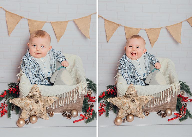 Weihnachten Babyfotoshooting Kassel