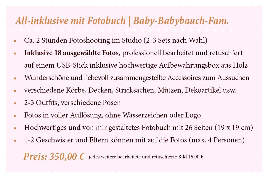 Preise Babybauch Babyshooting Kinderfotos