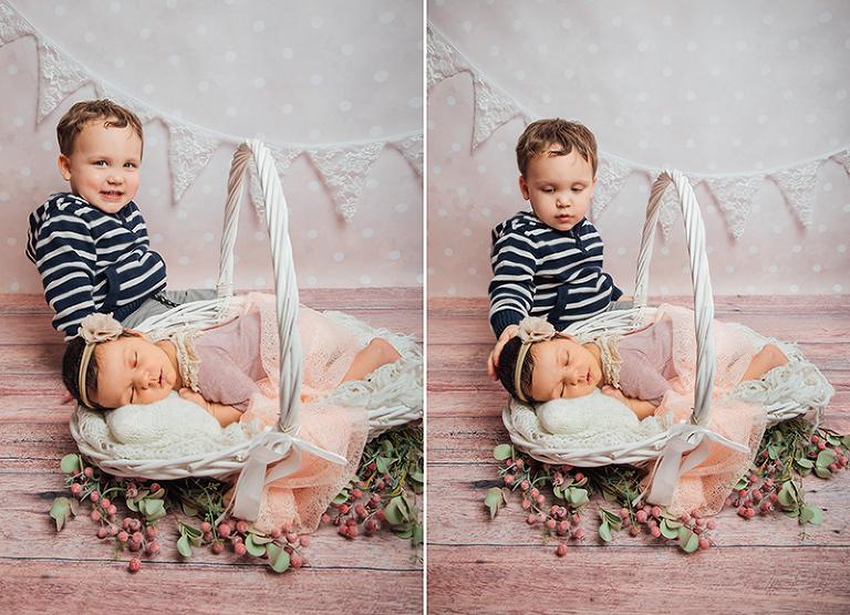 Baby Geschwister Fotoshooting Kassel
