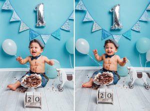 Cake-Smash Fotoshooting und Geburtstagsfotoshooting Kassel