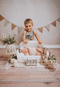 Baby Fotoshooting Geschwisster Kassel